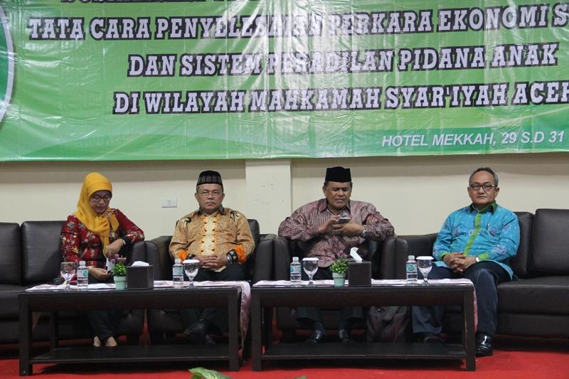 Sosialisasi Perma Nomor 14 Tahun 2016 di Hotel Mekah Banda Aceh