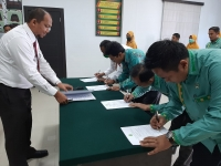 Pembacaan dan Penandatanganan Pakta Integritas MS Simpang Tiga Redelong Tahun 2021