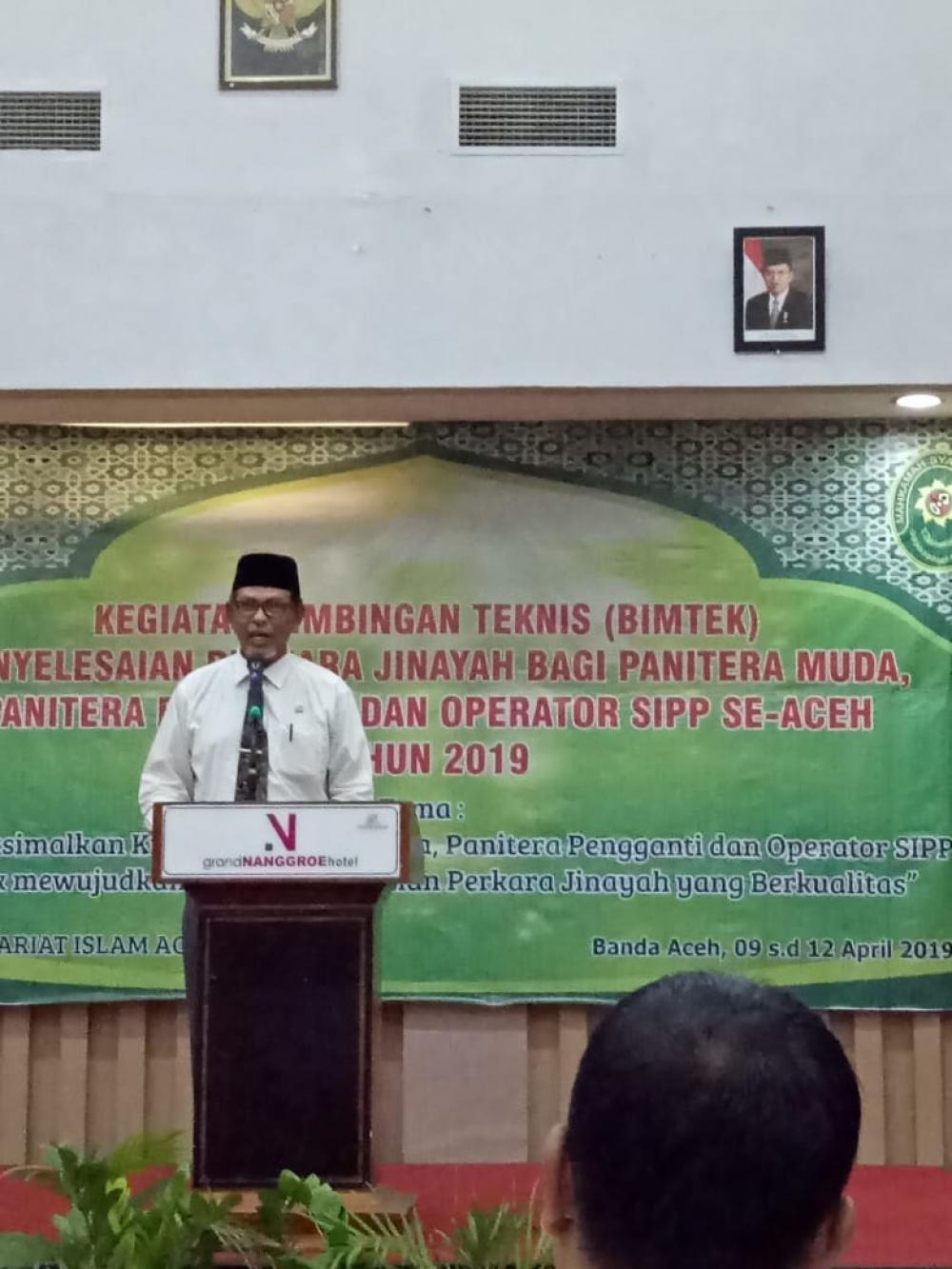 Pejabat Kepaniteraan dan Operator SIPP Mahkamah Syar'iyah Kab/Kota Se Aceh Ikuti Bimtek Penyelesaian Perkara Jinayat
