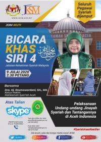Ketua MS Aceh Menjadi Narasumber Webinar Jabatan Kehakiman Syariah Malaysia